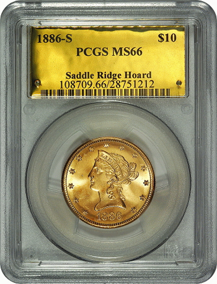 Saddle Ridge Hoard $10 gold coin