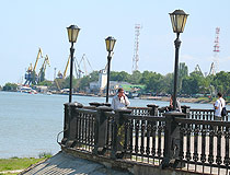 On the seafront in Taganrog