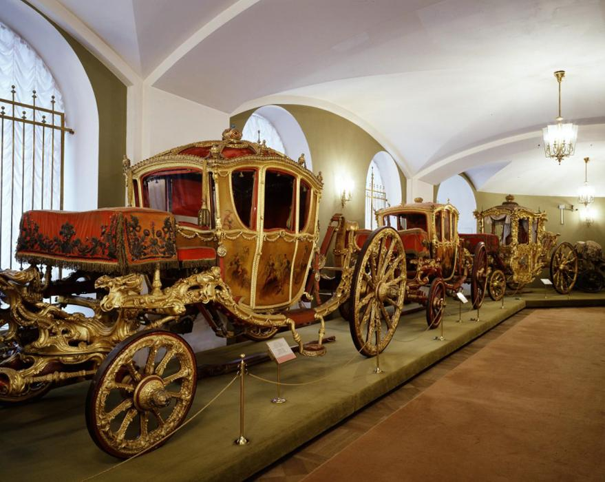 Interior of the Armory - Carriages- Moscow Kremlin